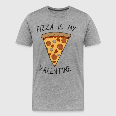 Valentine's Day Pizza Is My Valentine Humour - Herre premium T-shirt