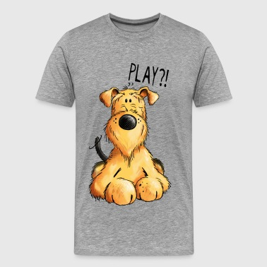 Airedale Airedale Terrier - Dog - Cartoon - Gift - Dogs - Men's Premium T-Shirt