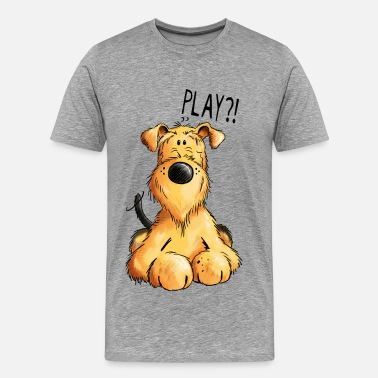 Airedale Terrier Airedale Terrier - Dog - Cartoon - Gift - Dogs - Men's Premium T-Shirt