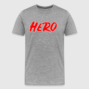 Custom Font Hero, red font, white outline - Men's Premium T-Shirt