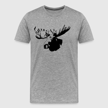 moose - elk - hunting - hunter - Men's Premium T-Shirt