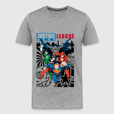 Justice League Comic Cover - Mannen Premium T-shirt