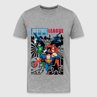 Justice League Comic Cover - Herre premium T-shirt