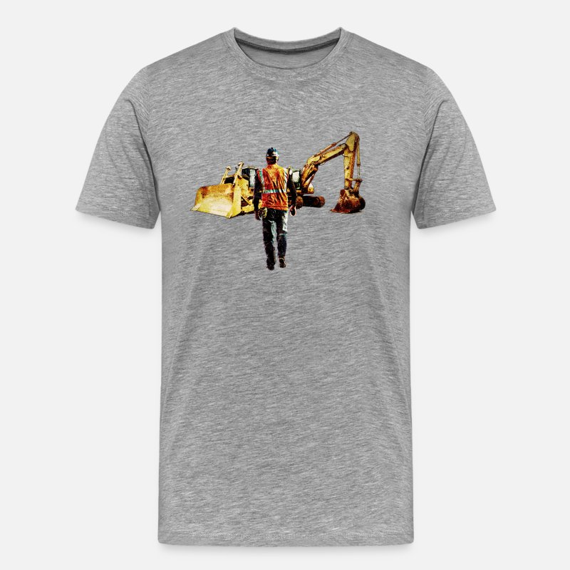 Dozers T-Shirts - Diggers and Dozers - Men's Premium T-Shirt heather grey