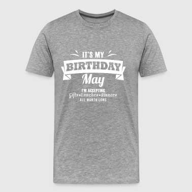 May birthday gift Taurus - Men's Premium T-Shirt