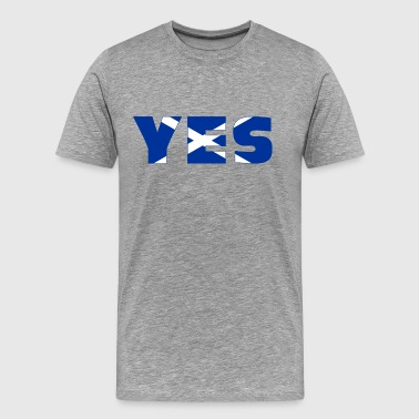 Scotland says YES - Men's Premium T-Shirt