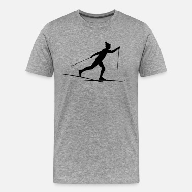 Cross Country Cross country esquiadores de fondo - Camiseta premium hombre
