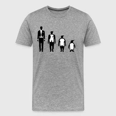 Evolution Penguin - Premium-T-shirt herr