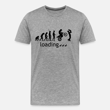 Evolution Father Evolution Enduro loading with father and child - Men's Premium T-Shirt