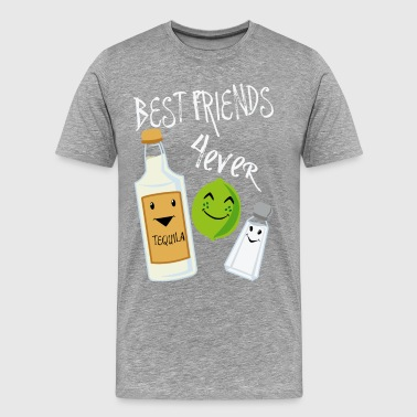 Best Friends Forever Tequila Lime Salt Humour - Mannen Premium T-shirt