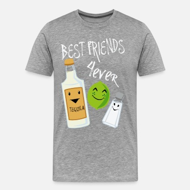 Best Friends Forever Tequila Lime Salt Humour - Camiseta premium hombre