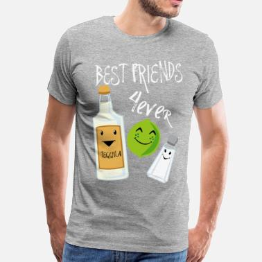Best Friends Forever Best Friends Forever Tequila Lime Salt Humour - Camiseta premium hombre