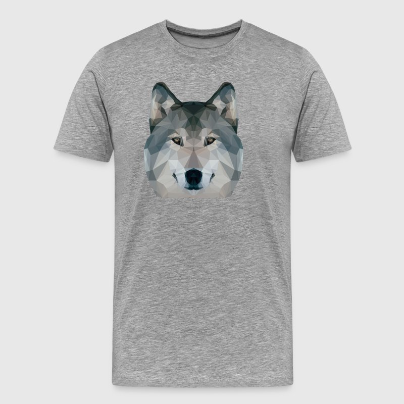 Loup Low Poly - T-shirt Premium Homme