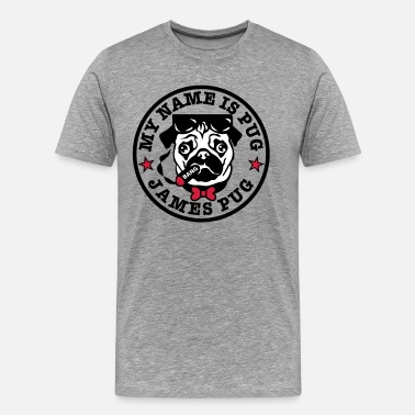 Agent 007 02 My Name is Pug James Mops Agent 007 - Männer Premium T-Shirt