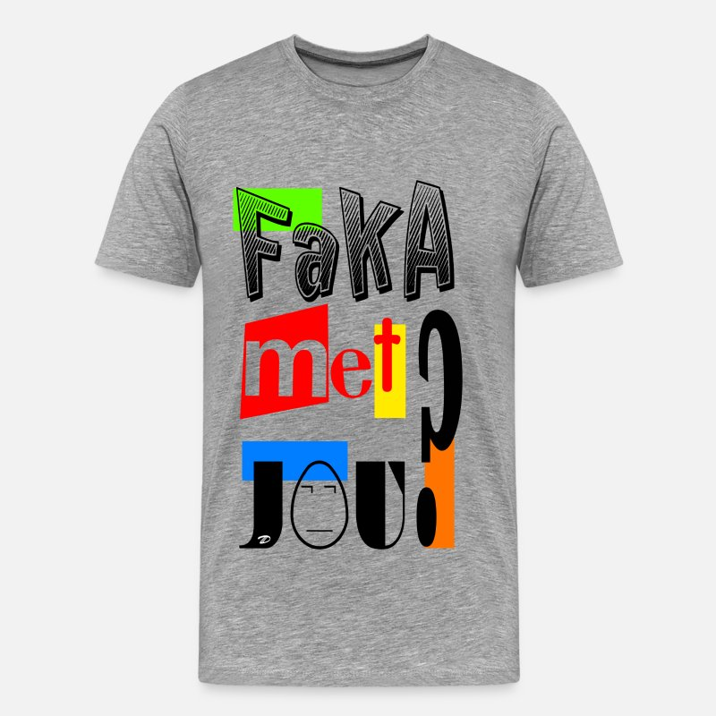 3D Records T-Shirts - Faka met jou? - Men's Premium T-Shirt heather grey