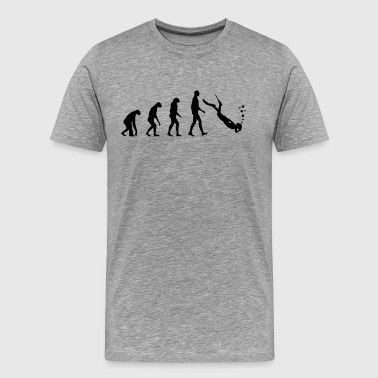 Evolution dive - T-shirt Premium Homme