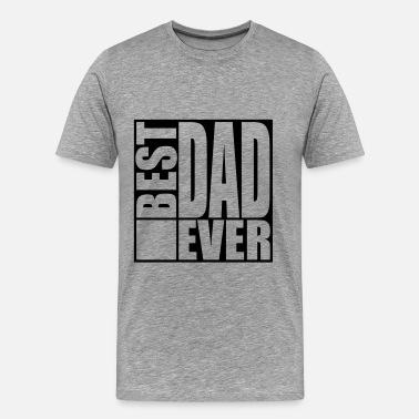 Beste Vader Cool Best Dad Ever Logo Design - Mannen Premium T-shirt