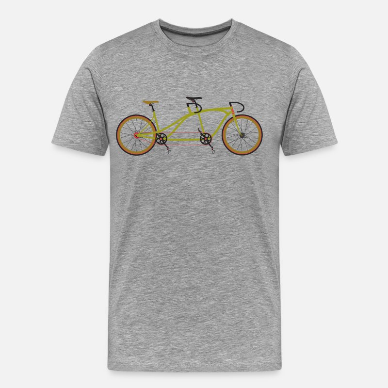 Bike T-Shirts - Tandem Bike - Men's Premium T-Shirt heather grey