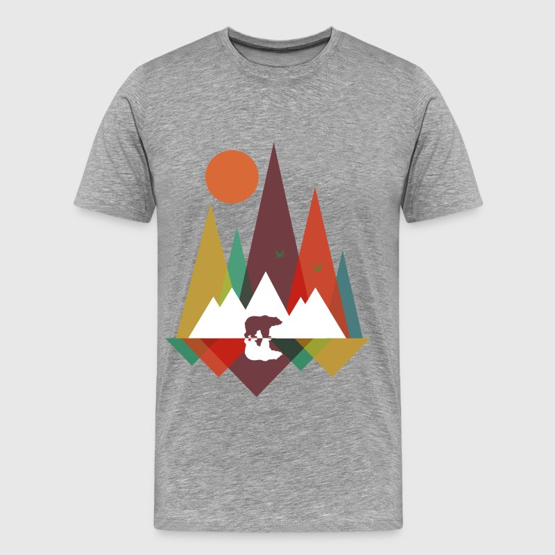 Bear in the mountains - Men's Premium T-Shirt