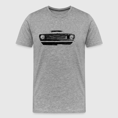 1966 muscle car -  black - Men's Premium T-Shirt