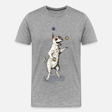 Juggling Terrier Juggling - Men's Premium T-Shirt