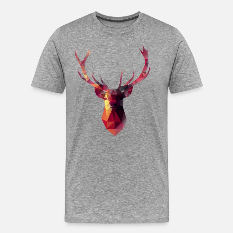 Deer T-Shirts - Red Stag - Men's Premium T-Shirt heather grey