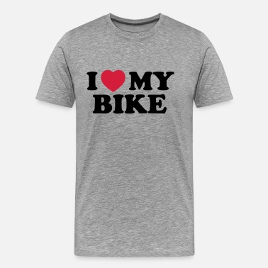 I Love My I love my bike - Premium-T-shirt herr