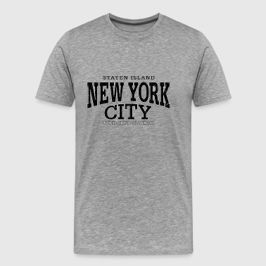 New York City Staten Island black (oldstyle) - Männer Premium T-Shirt
