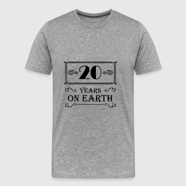 20 20 years on earth - Mannen Premium T-shirt