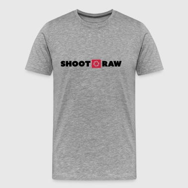 shoot raw - Männer Premium T-Shirt