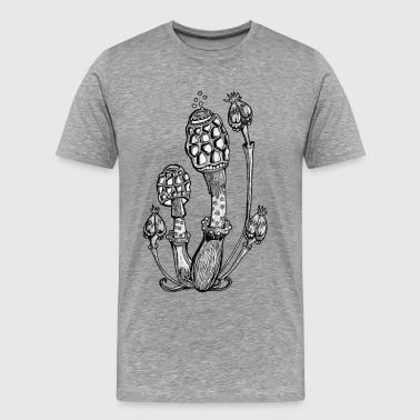 Magic Mushrooms, Design, Illustration, Goa, Trance - Men's Premium T-Shirt