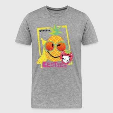 SmileyWorld 'Besties Fruits' men t-shirt - Premium T-skjorte for menn