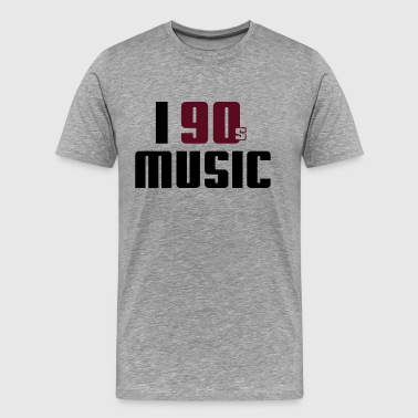 90 I Love 90s Music - Männer Premium T-Shirt