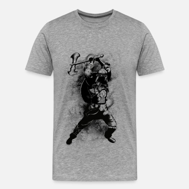 Black And White Collection Viking Warrior - Maglietta Premium da uomo