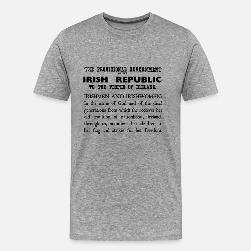 1916 T-Shirts - Irish Proclamation - Men's Premium T-Shirt heather grey