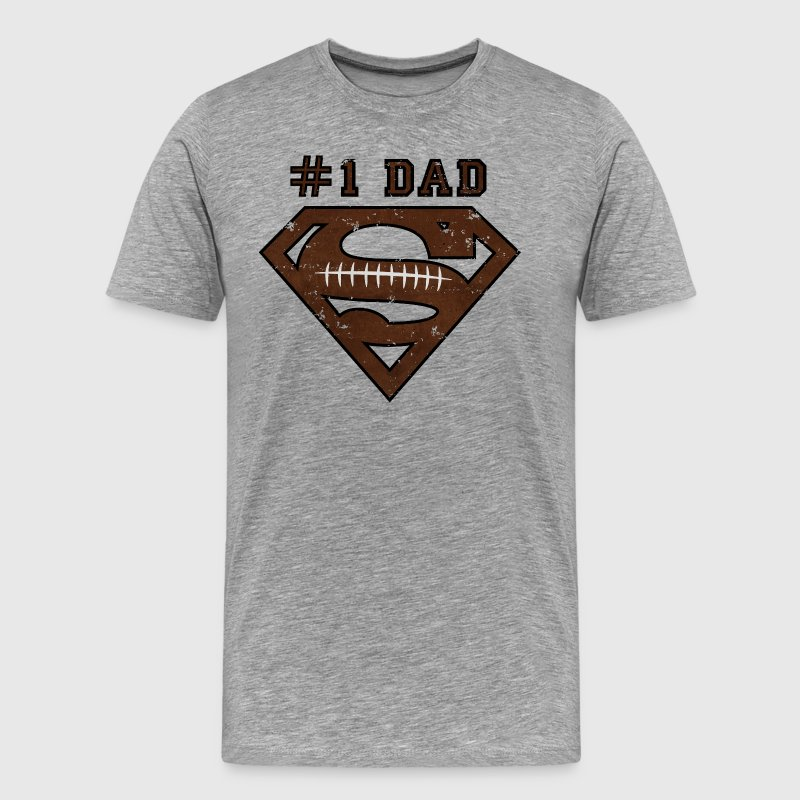 Superman Super Dad Football - Herre premium T-shirt