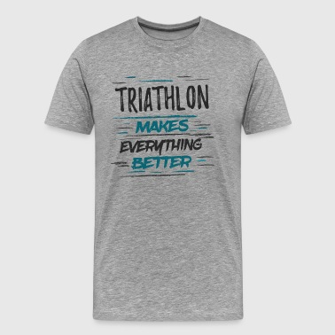 Champion Grappige Triathlon Memes Tee Shirt TriathleteGift - Mannen Premium T-shirt