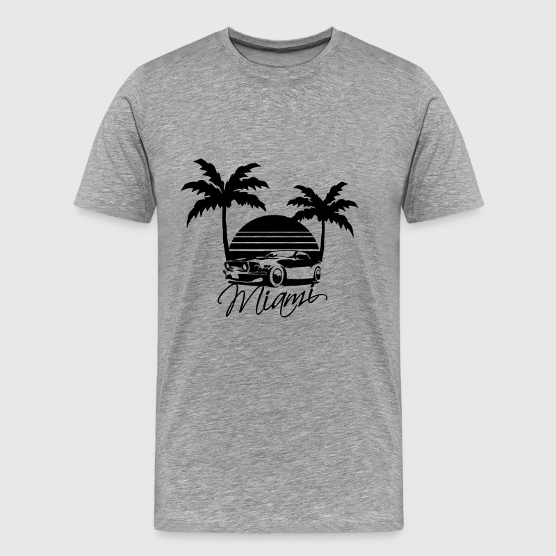 Mus Miami Beach Palms Logo Design - Men's Premium T-Shirt