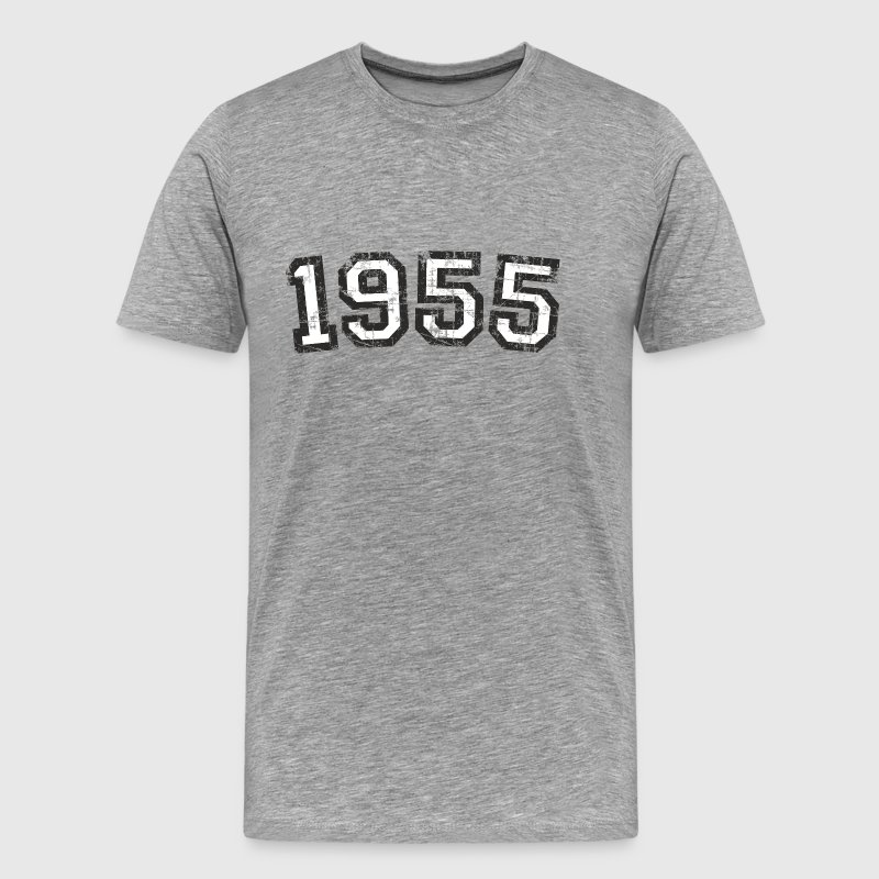 Year 1955 Birthday Vintage White (EU) - Men's Premium T-Shirt