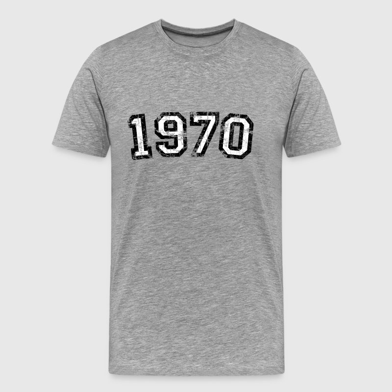 Year 1970 Birthday Design Vintage Anniversary - Men's Premium T-Shirt