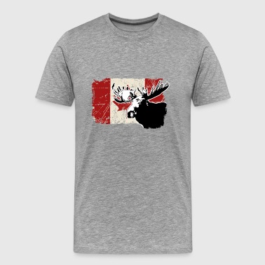Moose - Canadian Flag - Männer Premium T-Shirt