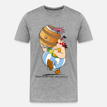 Funny Rugby Asterix & Obelix - These Rugbymen - Men's Premium T-Shirt