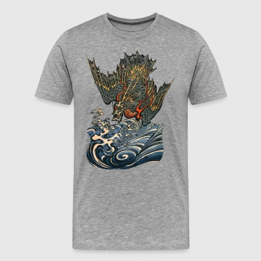 Tattoo Ocean Dragon - Männer Premium T-Shirt