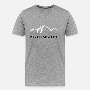 Glacier Alpine Air Mountains / Mountain Air - Men's Premium T-Shirt