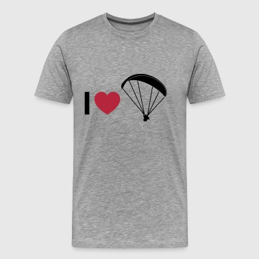 i love paragliding - Men's Premium T-Shirt