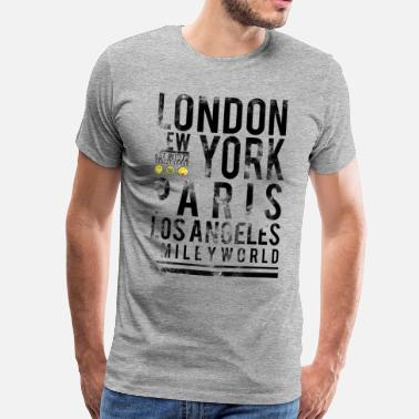Voyage Smileyworld 'Cities' - T-shirt premium Homme