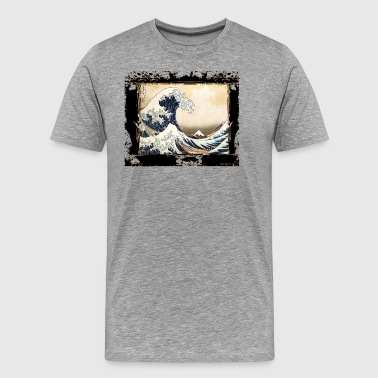 the hokusai wave reviewed by DgedeNice - Men's Premium T-Shirt
