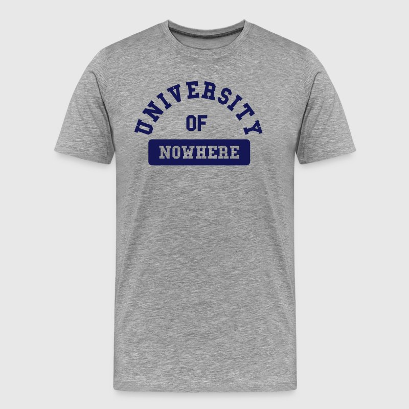 university of nowhere - Männer Premium T-Shirt
