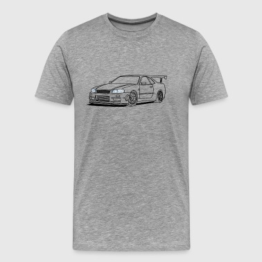 cool car headlights - Männer Premium T-Shirt