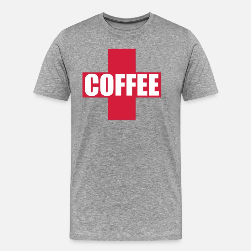 Coffee Bean T-Shirts - First Aid Coffee - Men's Premium T-Shirt heather grey